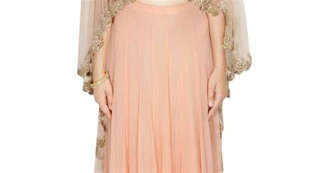 Caik Blouse Cape Abella Pink pink embroidered asymmetric cape blouse with gold border lehenga indian couture