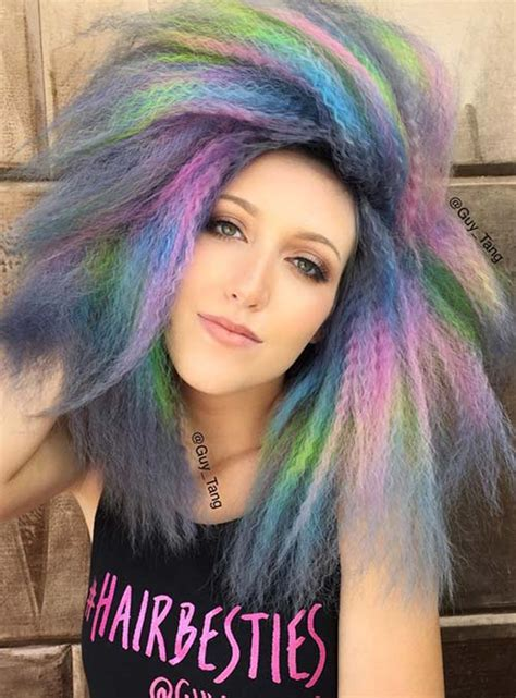 hair styes dye at bottom 50 bold pastel and neon hair colors in balayage and ombre