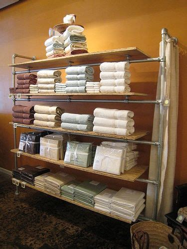 industrial style shelving    retail display