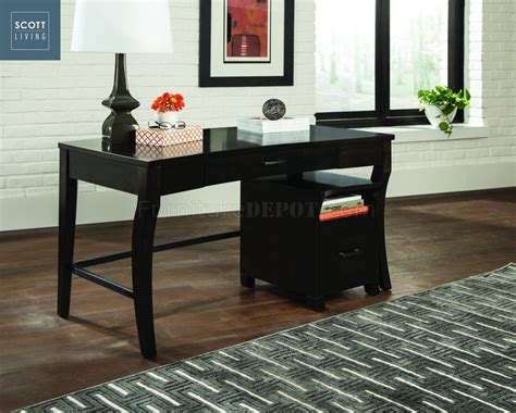 writing desk with matching file cabinet 801751 scott living coaster smokey black writing desk