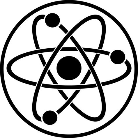 Decal Sticker Laptop Stiker Lucu Logo Atom Science Kimia atom symbol solar of the atom book cover project