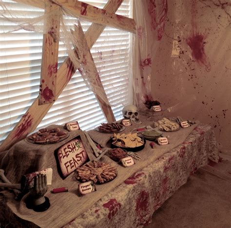 halloween themed decorations walking dead party on pinterest zombie party zombie