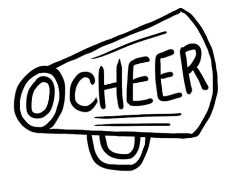 cheerleading megaphone coloring pages coloring pages