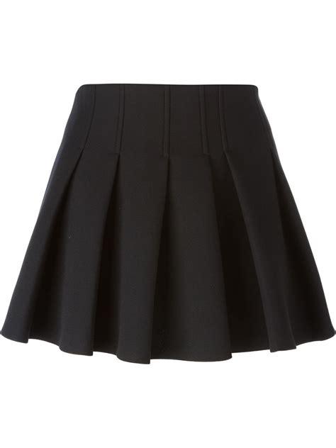wang pleated mini skirt in black lyst