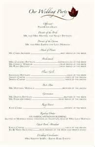Wedding programs wedding program wording program samples program