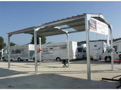hangar pour caravane abri cing car metal pente 4 00 m x 8 00 m