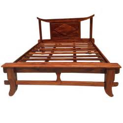Sasaki Vase Vintage Teak Queen Size Bed Frame At 1stdibs