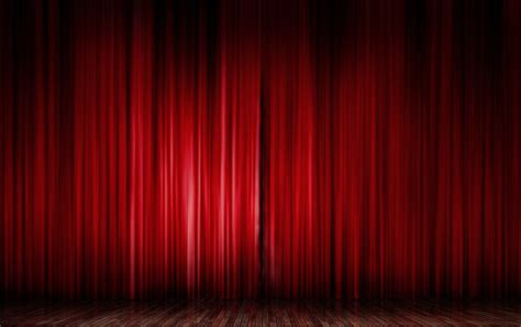 curtain opening red curtain open