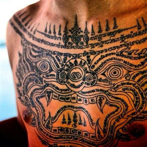 cambodian tattoos protection khmer s khmer