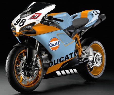 gulf racing motorcycle two wheels in gulf racing colors