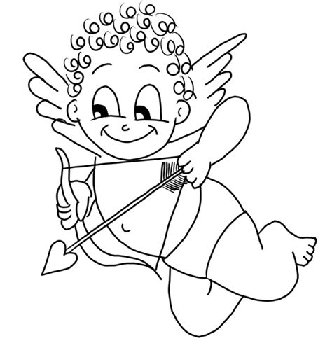 cupid coloring pages valentines day coloring cupid www pixshark images