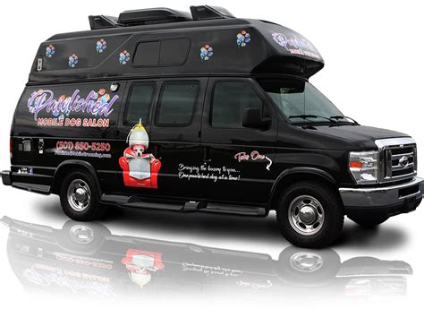 mobile groomer pawlished mobile salon where the groomer comes to you