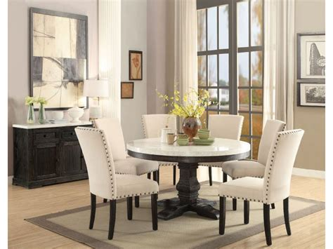 nolan white faux marble top dining set shop for