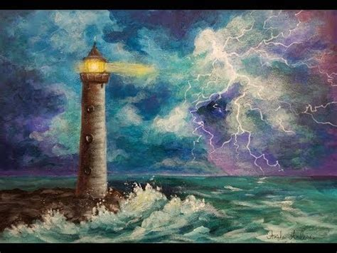 bob ross colors paint like bob ross with acrylics lighthouse in a