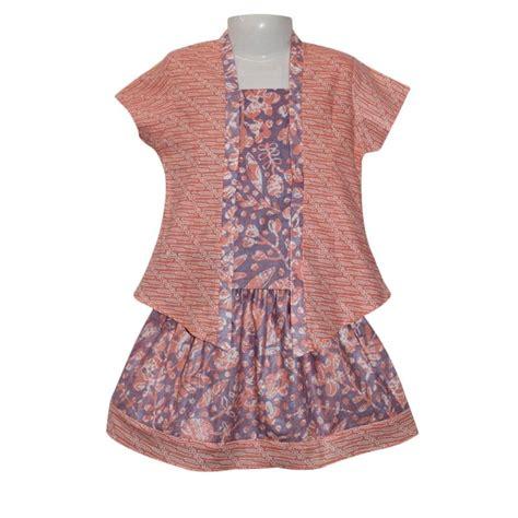 Setelan Kebaya Katun Tarya Orange jual rumah voila kebaya batik pastel orange ungu setelan anak perempuan harga