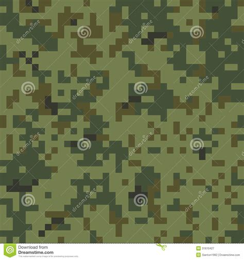 army pattern digital seamless camouflage pattern stock vector image 31610427