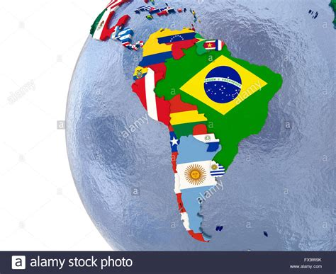 south america map with flags political map of south america with each country