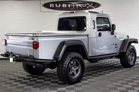 brute jeep conversion pre owned 2006 jeep wrangler rubicon brute conversion silver