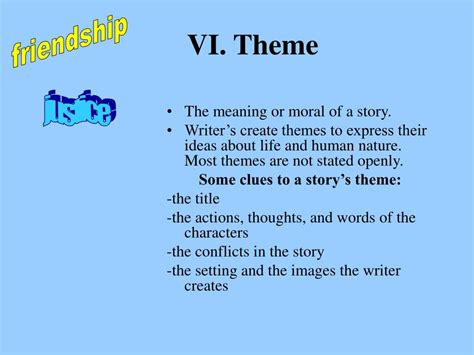 themes of a story powerpoint ppt elements of a story powerpoint presentation id 649157