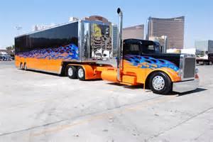 Custom truck amp trailer big rig 18wheeler hd wallpaper