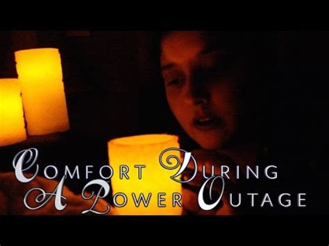 asmr comfort comfort during a power outage whispered asmr role play