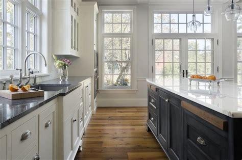 Blue Soapstone Countertops White Perimeter Cabinets With Soapstone Counters