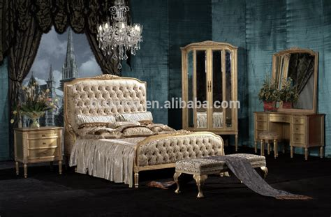 antique royal european style solid wood 5pcs bedroom royal european style wooden bedroom set with gold leaf antique bedroom furniture buy european