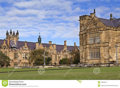 Sydney Uni Mba Time by Cus Of The Of Sydney Stock Image