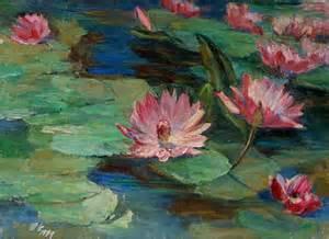 Lotus At Rocks Painting Rocks Underwater 619 Lotus Pond Original