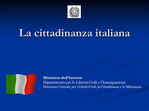 ministero dell interno cittadinanza registrazione domande di cittadinanza on line co libero a