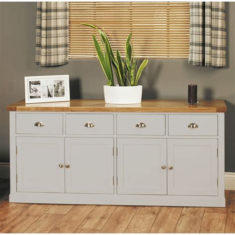 Grey Dining Room Sideboard Chadwick Grey Painted Oak Furniture Large Four Door