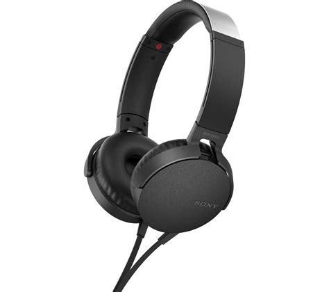 Sony In Ear Bass Xb buy sony bass mdr xb550ap headphones black free