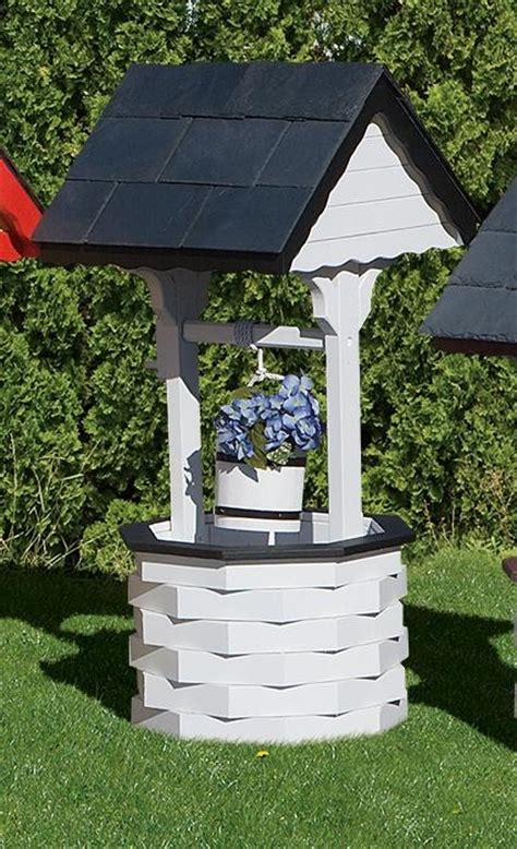 Wishing Well Garden Decor Amish Made Wishing Dutchcrafters Outdoor Decor