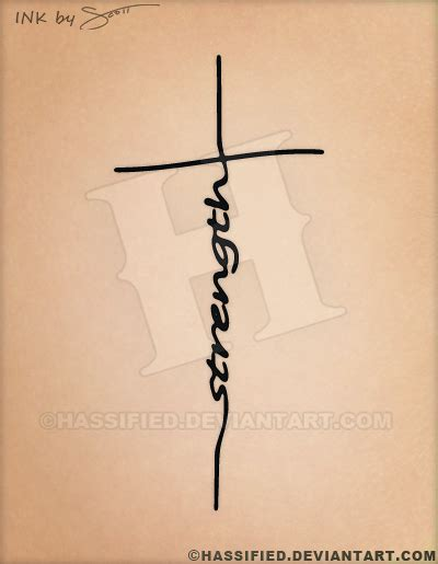 strength cross tattoo design by hassified