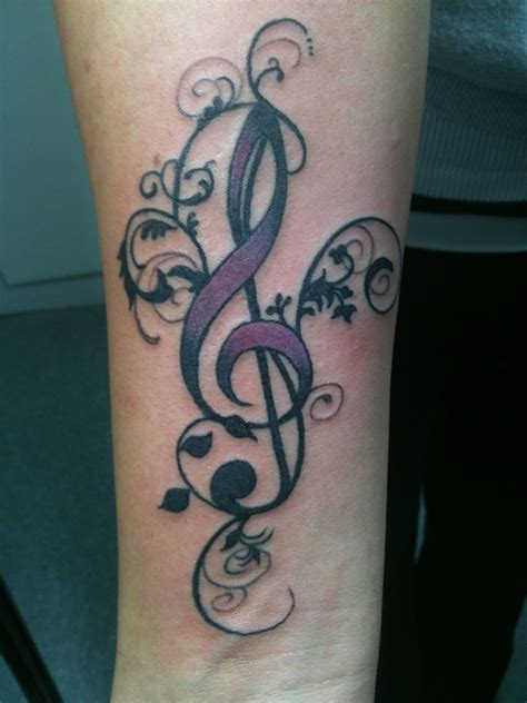 treble clef tattoo designs fancy treble clef suggestions