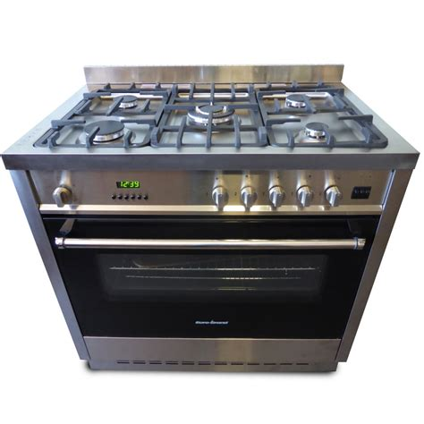 gas cooktop with electric oven grand fan forced 90cm free standing electric oven
