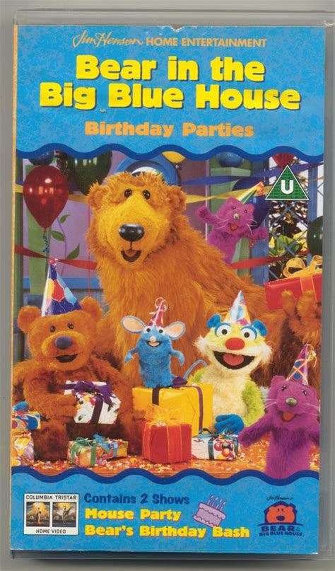 bear big blue house bear in the big blue house birthday parties english vhs video 1999 ebay