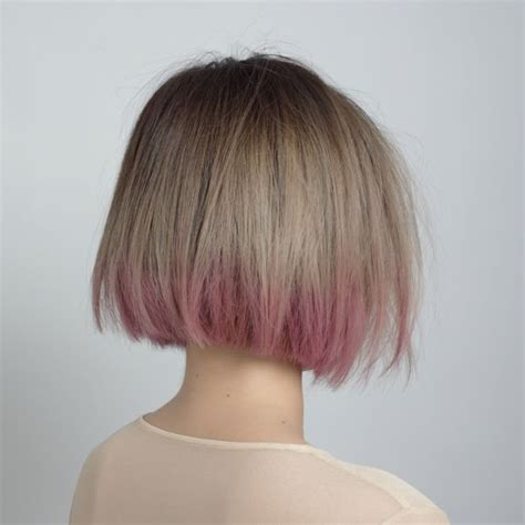 ombre hair color on a bob short bob pink ombre the fashion medley