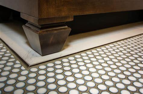 round bathroom tiles penny round floor tile tile design ideas