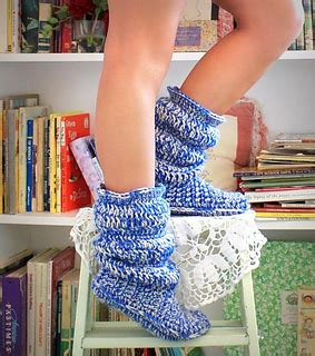 hollydoll crochet boot slippers pattern ravelry cozy slipper boots for pattern by hollydoll