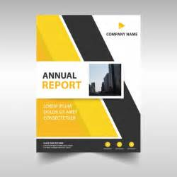 Corporate Annual Report Template by Abstract Yellow Corporate Annual Report Template Vector
