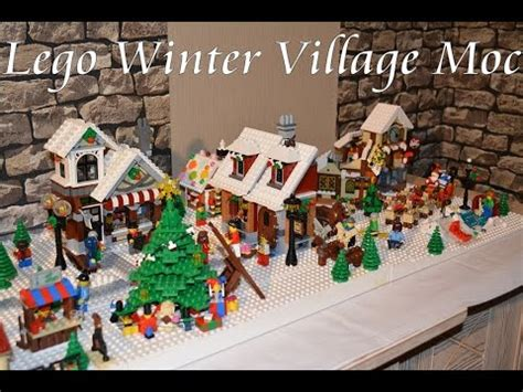youtube make a village display lego winter display moc