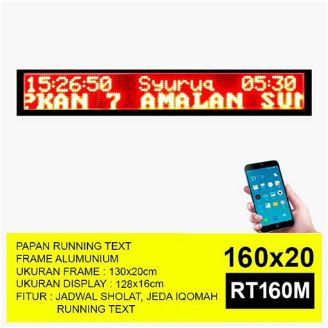 Jam Digital Dengan Lu Led by Rt160 Hijau Jam Digital Masjid Running Text Jadwal