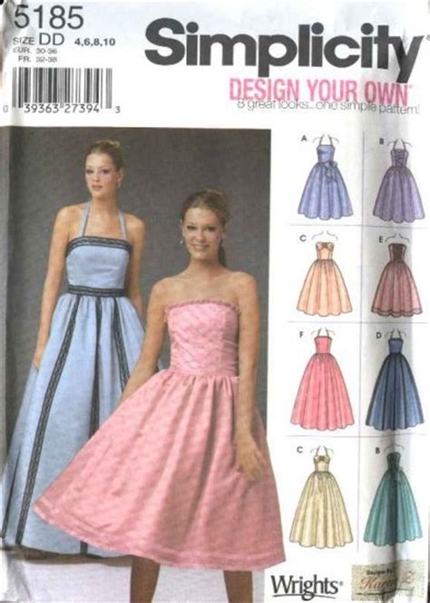 simplicity sewing pattern  misses size   formal