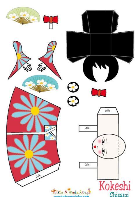 Papercraft Dolls - kokeshi chisami papercraft printable