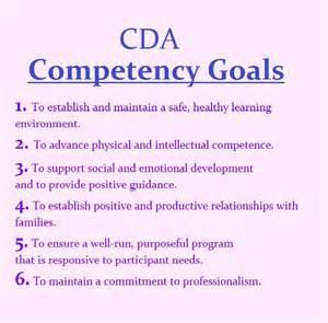 Cda Portfolio Template by The 6 Cda Competency Goals Infant Toddler Cda