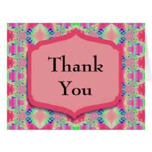 thank you pretty pink pattern greeting cards