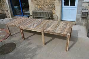 plan pour fabriquer une table de jardin en palette