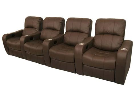 theater reclining chairs newport home theater seating 4 brown recliner chairs