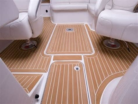 inexpensive faux teak marine boat decking   YouTube